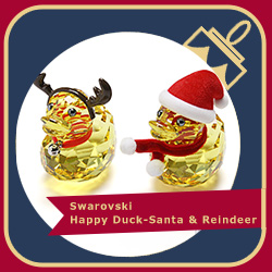 Swarovski Happy Duck - Santa & Reindeer