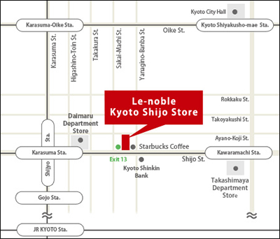 Kyoto Shijo Map