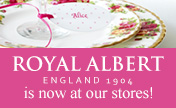 Many varieties of Royal Albert is now at our shop.