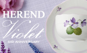 "Now is the chance to get ""Violet - Sisi Anniversary -"" in HEREND Porcelain Manufactory"