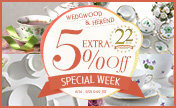 Anniversary Special Week! Wedgwood & Herend are 5% extra off for only limited time. [Until 6/21 09:59JST]